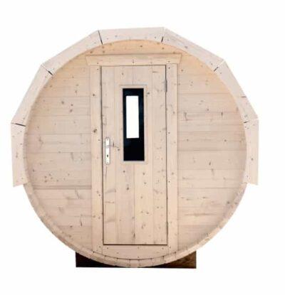 Barrel sauna deur met glas