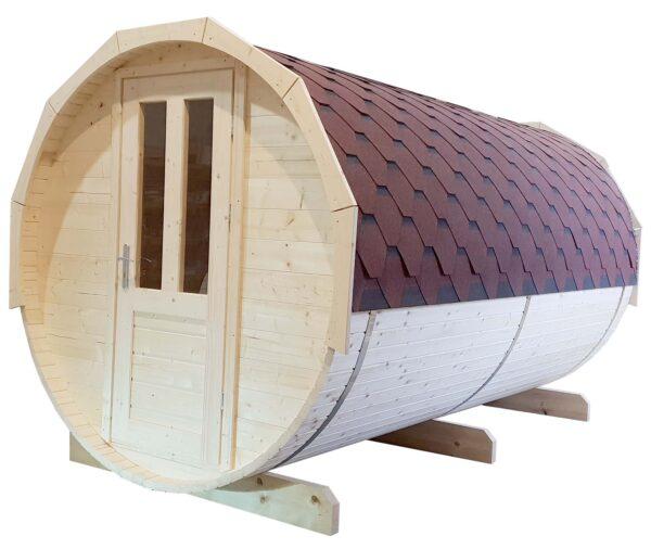 Barrel sauna grenen voorzijde
