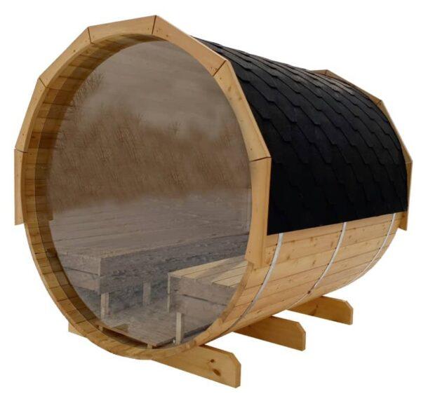 Barrel sauna volledig raam sun