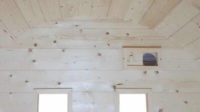 Pod sauna lucht toevoer