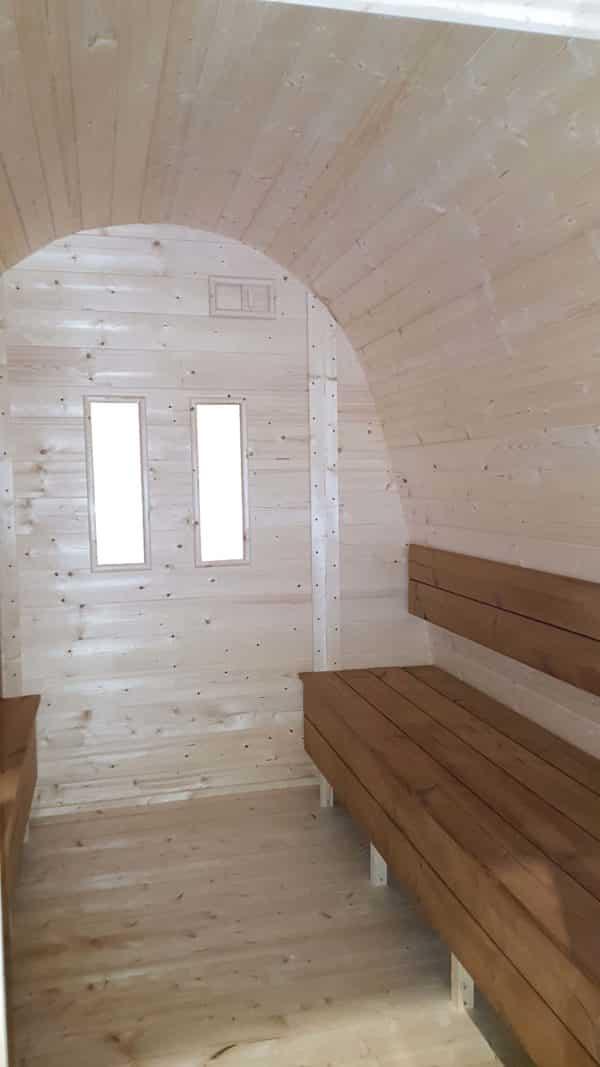 Pod sauna ramen achterwand klein