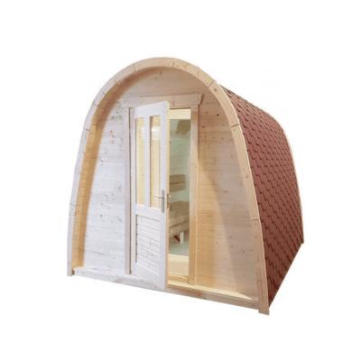 Pod sauna zonder voorportaal
