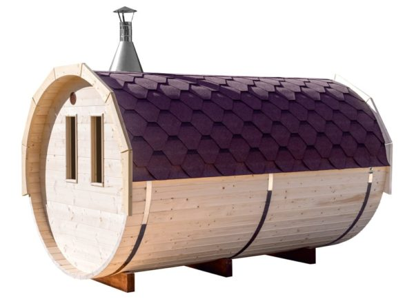 barrel sauna raampjes achterzijde