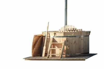 hot tub hout grenen interne kachel