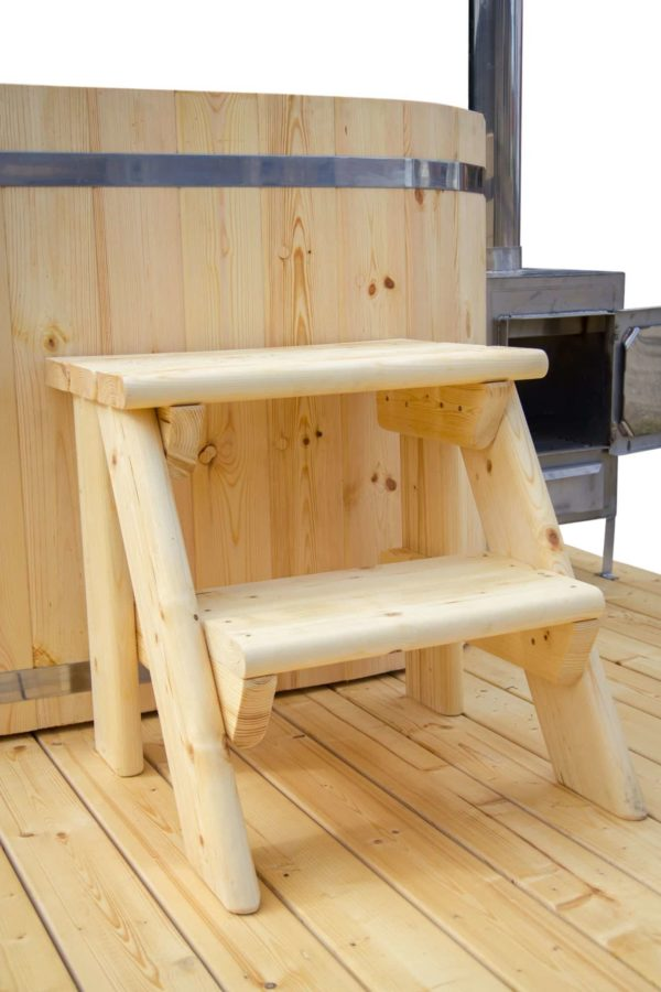 hot tub ofuro houten trapje
