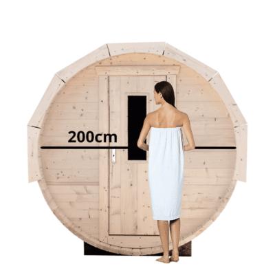Barrelsauna 200cm Grenen