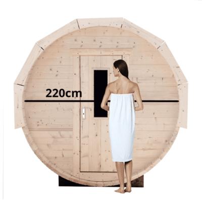 Barrelsauna 220cm Grenen
