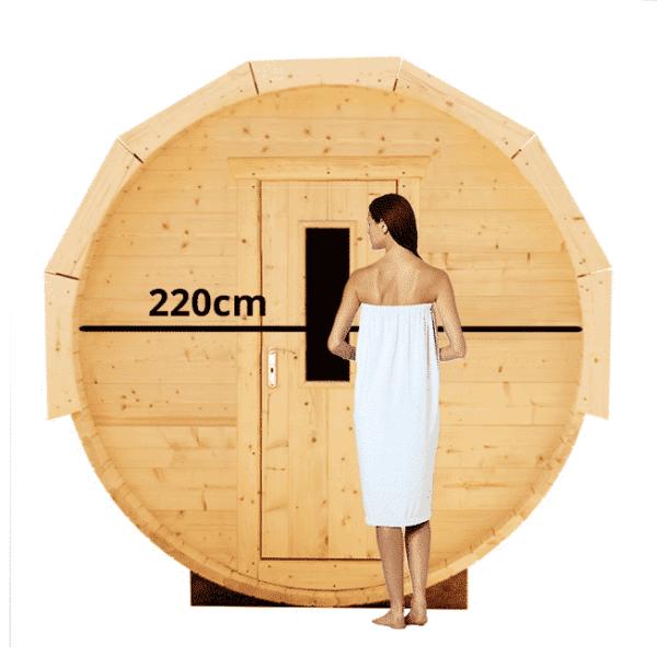 Barrelsauna 220cm Thermowood