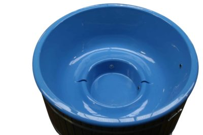 Hot tub blauwe kunststofkuip