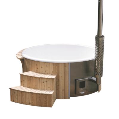 Hot tub grenen luksus geintregeerde kachel