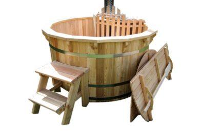 Hot tub hout internekachel deksel
