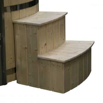 Hot tub ronde trap grenen