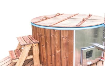 Hot tub thermowood deksel