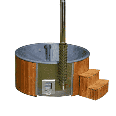 Hot tub thermowood luksus antraciet kuip