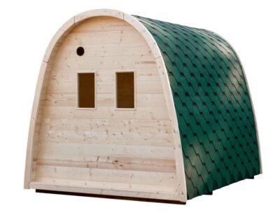 Sauna pod grenen achterkant
