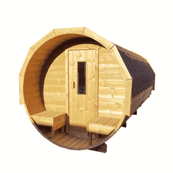 barrel sauna thermowood voorportaal