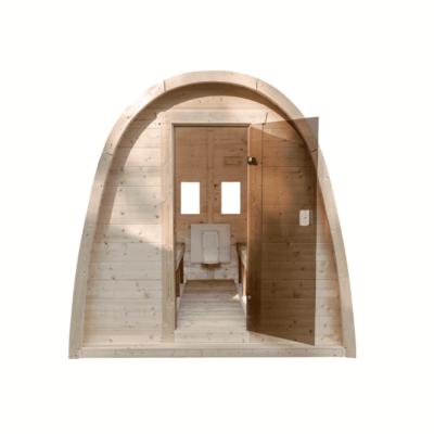 sauna pod glazendeur