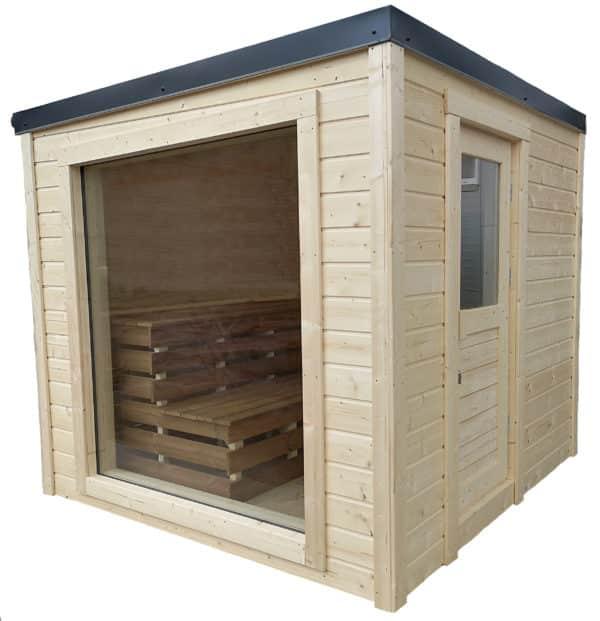 buiten cube sauna